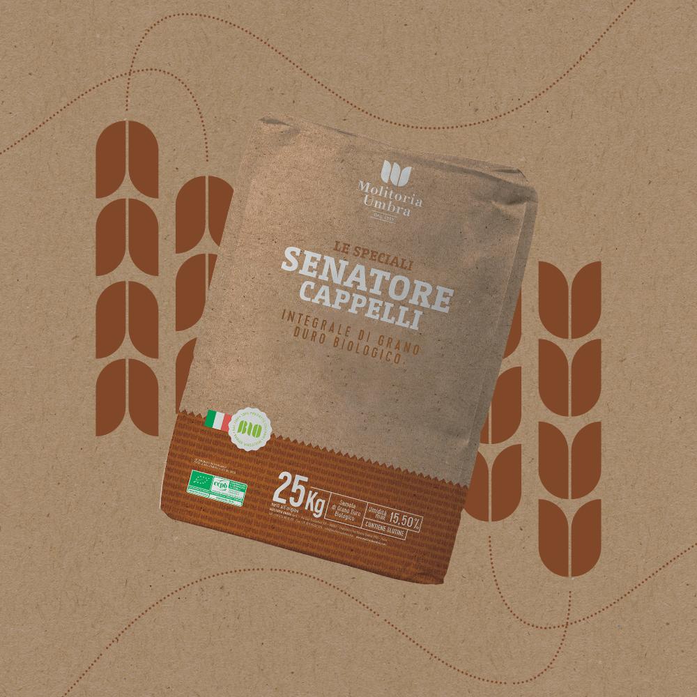 senatore cappelli integrale di grano duro biologico